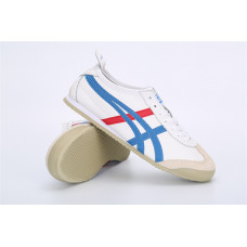 Кроссовки Asics Onitsuka Tiger бел/синие полоски